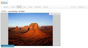 Capture of new theme layout designer