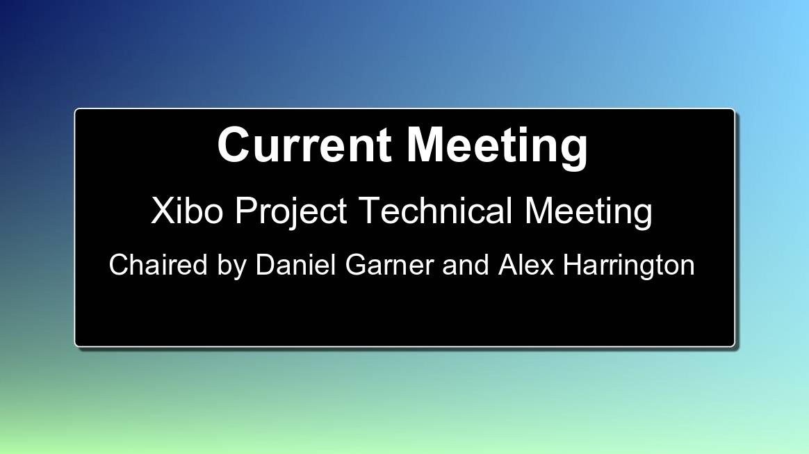 Xibo Meeting Room Sign