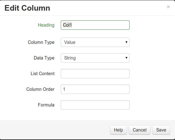 Column Edit
